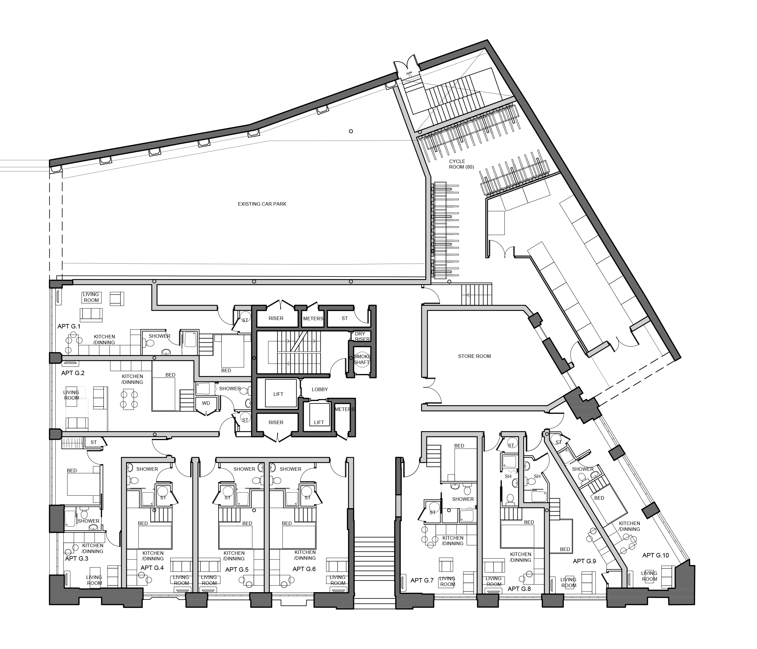 These are floor plans granted by manchester city council and are subject to minor change upon uk building regulation